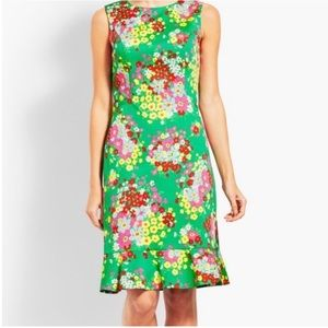 Brand New Green Talbots Floral Print Dress 4